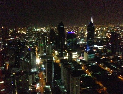 The view from Bits Rooftop Lounge at the Hard Rock Hotel in Panama City