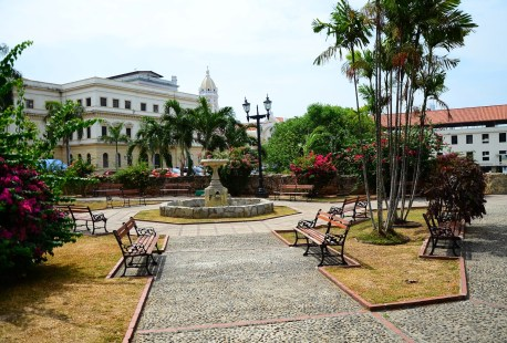 Small park in Casco Viejo, Panama City