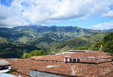 View from Hotel Colonial in Salamina, Caldas, Colombia