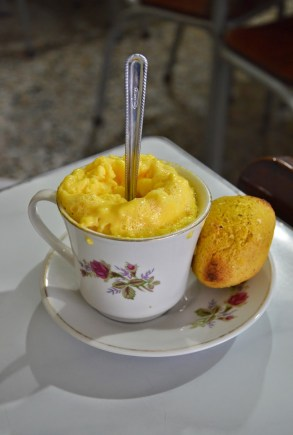 Huevos al Vapor at Café El Polo in Salamina, Caldas, Colombia