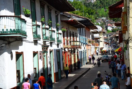 Calle Real in Salamina, Caldas, Colombia