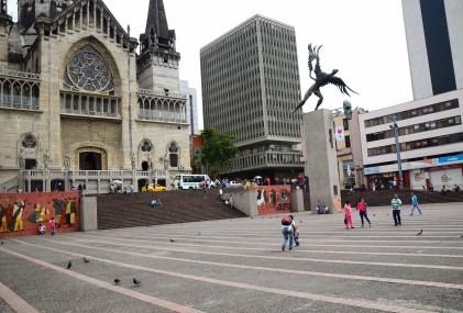 Plaza de Bolívar in Manizales, Caldas, Colombia
