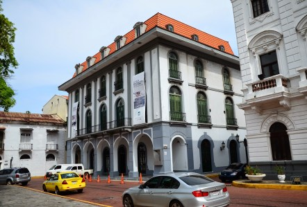 Museo del Canal Interoceánico on Plaza Mayor in Casco Viejo, Panama City
