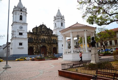 Plaza Mayor in Casco Viejo, Panama City