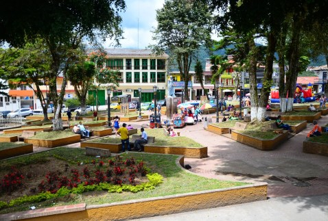 Plaza in Neira, Caldas, Colombia