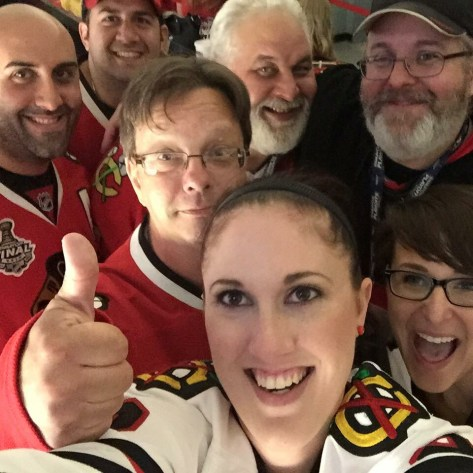 Season Ticket Holder Selfie at Game 6 of the 2015 Stanley Cup Finals at the United Center in Chicago