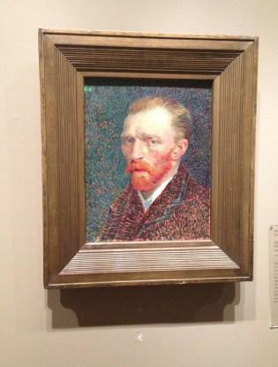 Van Gogh Self Portrait at the Art Institute of Chicago