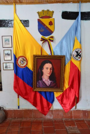 La Pola Display at the Casa de la Cultura in Guaduas, Cundinamarca, Colombia