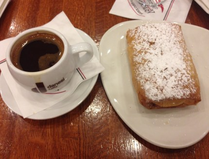 Greek Coffee and Bougatsa at Artopolis Bakery and Café in Greektown Chicago