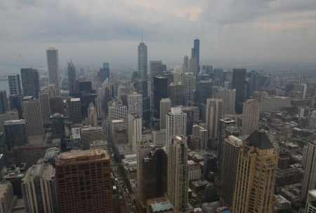 View from 360 Chicago at the John Hancock Center in Chicago