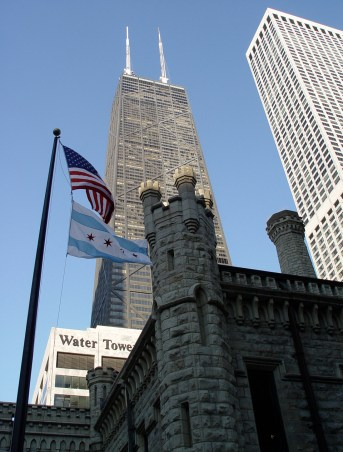 Water Tower and Hancock Center on Michigan Avenue in Chicago