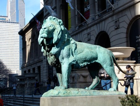 Lion at the Art Institute of Chicago