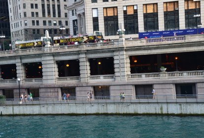 Upper and Lower Wacker Drive in Chicago