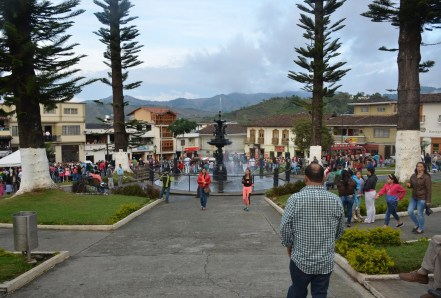 Plaza in Aguadas, Caldas, Colombia