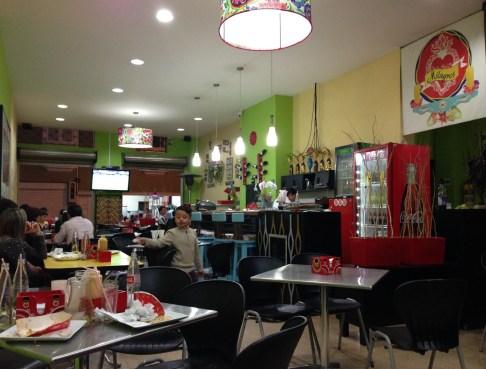 Milagros restaurant in Aguadas, Caldas Colombia