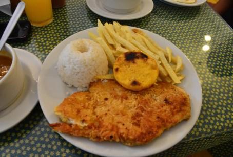 Meal at Las Margaritas in Jardín, Antioquia, Colombia