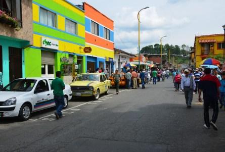 A street in Risaralda, Caldas, Colombia