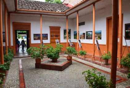 Courtyard at Museo Clara Rojas in Jardín, Antioquia, Colombia