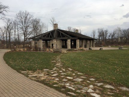 Pavilion at Coffee Creek Watershed Preserve in Chesterton, Indiana