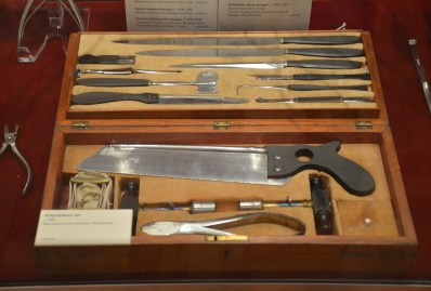 Amputation kit at International Museum of Surgical Science Gold Coast Chicago