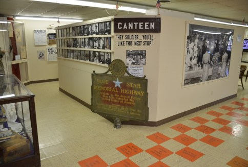 Canteen display at Lincoln Country Historical Museum in North Platte Nebraska