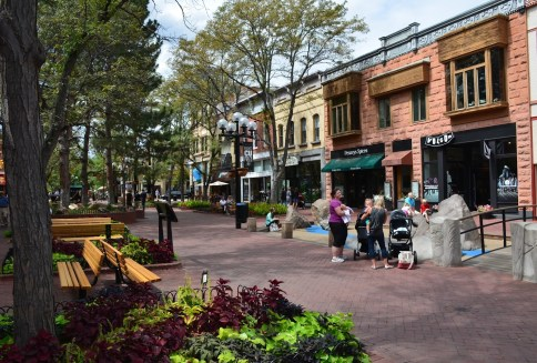 Pearl Street Mall in Boulder Colorado
