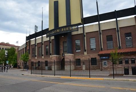 Folsom Field at University of Colorado in Boulder Colorado