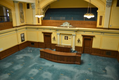 Senate Chamber at the Wyoming State Capitol in Cheyenne