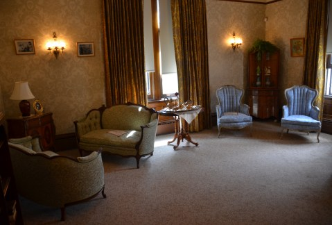 Sitting room in the Wyoming Governor's Mansion in Cheyenne