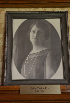 Nellie Tayloe Ross in the Wyoming Governor's Mansion in Cheyenne