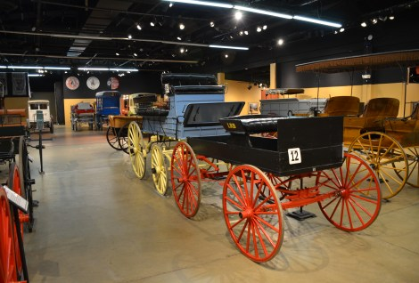 Carriage collection at the Cheyenne Frontier Days Old West Museum in Wyoming