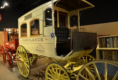 Ambulance carriage at the Cheyenne Frontier Days Old West Museum in Wyoming
