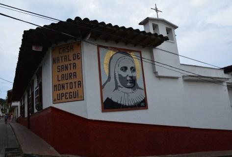 Home of Santa Laura in Jericó Antioquia Colombia Catholic