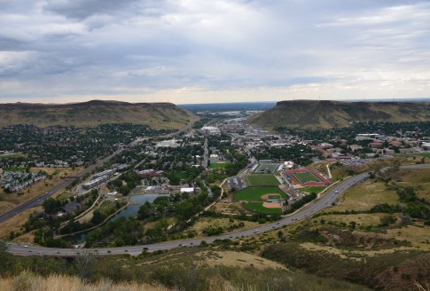View of Golden, Colorado, from Lookout Mountain
