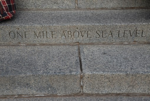 Mile High Marker at the Colorado State Capitol in Denver