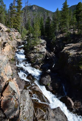 Adams Falls on East Inlet Trail in Rocky Mountain National Park, Colorado