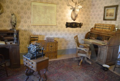 Warden's office at Wyoming Territorial Prison State Historic Site in Laramie
