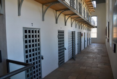 Cellblock at Wyoming Territorial Prison State Historic Site in Laramie