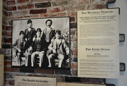 Butch Cassidy exhibit at Wyoming Territorial Prison State Historic Site in Laramie