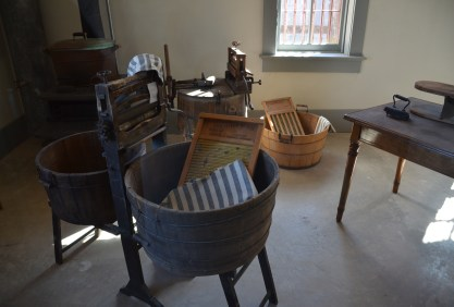 Laundry room at Wyoming Territorial Prison State Historic Site in Laramie