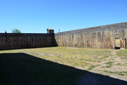Yard at Wyoming Territorial Prison State Historic Site in Laramie