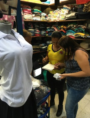 Shopping for school uniforms in Belén de Umbría, Risaralda, Colombia