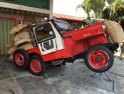 Jeep display at Recuca in Colombia