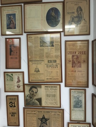 Antique Colombian movie posters at Caliwood in Cali, Colombia