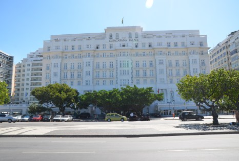 Copacabana Palace in Copacabana in Rio de Janeiro, Brazil