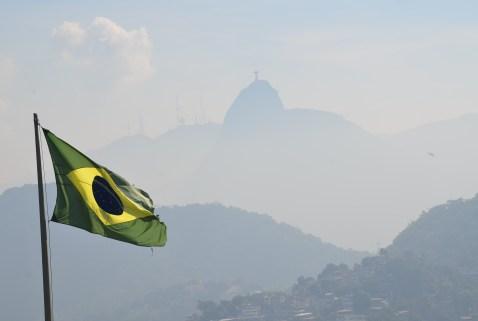 View of Corcovado from Forte Duque de Caxias in Rio de Janeiro, Brazil