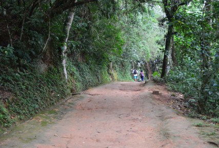 The road to Forte Defensor Perpétuo in Paraty, Brazil