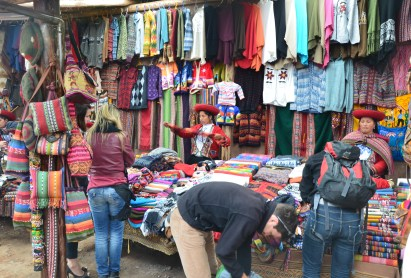 Chinchero craft market in Peru