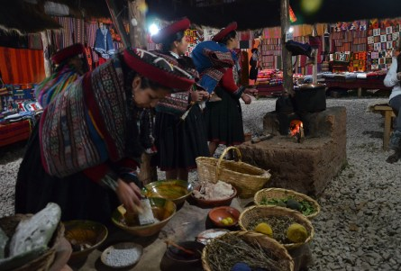 Craft market in Chinchero, Peru