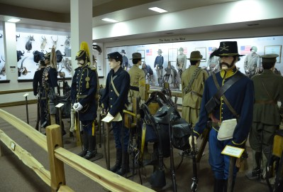 Military uniforms at the Nelson Museum of the West in Cheyenne, Wyoming